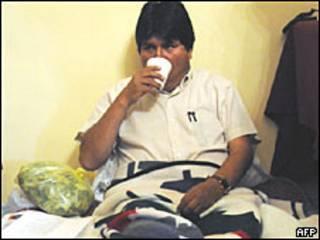 Evo Morales em greve de fome