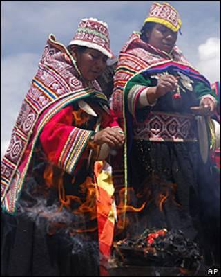 Indígenas en Bolivia
