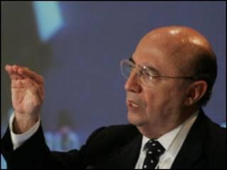 O presidente do Banco Central, Henrique Meirelles