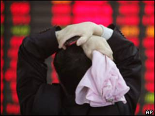 Investidor na Bolsa de Xangai