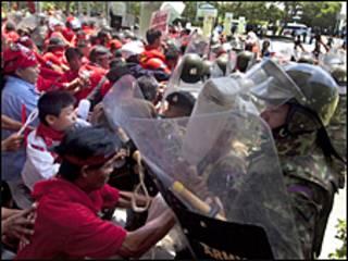Tayland'da protesto