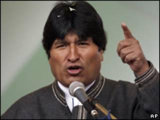 O presidente da Bolívia, Evo Morales (AP, 14/4)