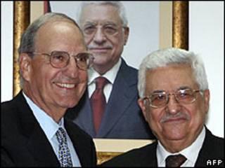 عباس و میچل در کرانه باختری