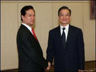 Thủ tướng Nguyễn Tấn Dũng và Ôn Gia Bảo
