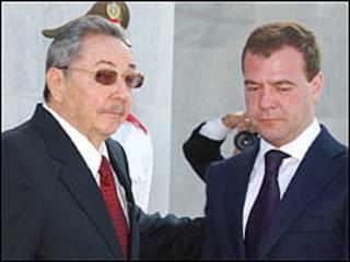 Raúl Castro y Dmitry Medvedev (Foto: Raquel Pérez)