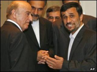 احمدی نژاد و رئیس جمهوری سوئیس