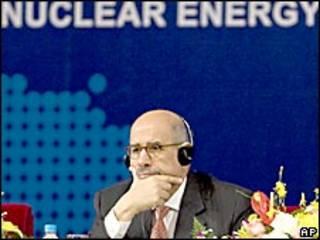 Mohamed ElBaradei, jefe de la agencia nuclear de la ONU.
