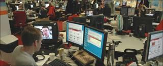 Sala de redacción de la BBC