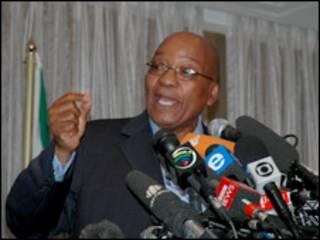 O líder do CNA, Jacob ZUma