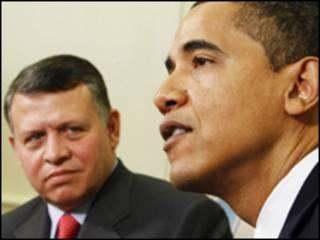 El rey Abdalá de Jordania con el presidente de EE.UU., Barack Obama