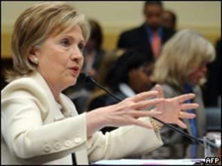 La secretaria de Estados de EE.UU., Hillary Clinton