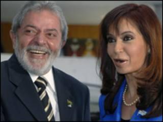 O presidente Luiz Inácio Lula da Silva e Cristina Kirchner (Foto: Roosewelt Pinheiro/ABr/arquivo)