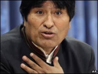Evo Morales em Nova York