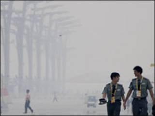 चीन का एक प्रदूषित इलाका
