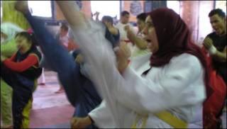 Egipcias en pleno entrenamiento