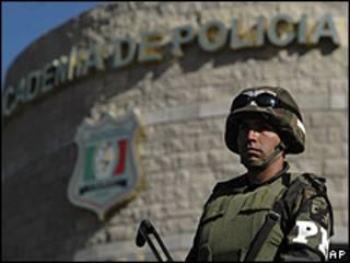 Soldado mexicano en Ciudad Juárez