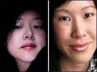 لورا لینگ (راست) و یونا لی