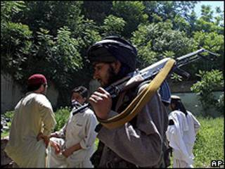 Militante del Talibán en Buner, Pakistán, 23.04.09