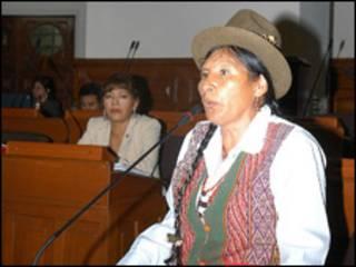 Hilaria Supa, congresista peruana