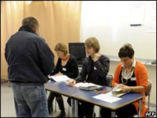 Votante en Islandia