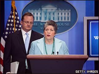 La secretaria de Seguridad Nacional, Janet Napolitano