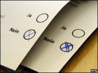 Votos a favor del no