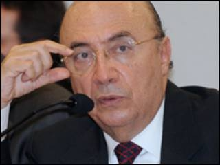 O presidente do Banco Central, Henrique Meirelles