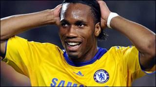 Tiền đạo Didier Drogba  của Chelsea