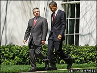 Obama e o rei Abdullah na Casa Branca
