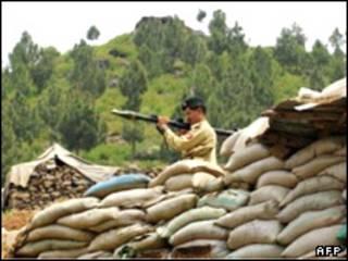 سرباز ارتش پاکستان در منطقه