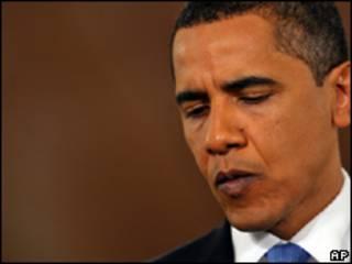 O presidente dos Estados Unidos, Barack Obama, durante entrevista coletiva nesta quarta-feira (AP)