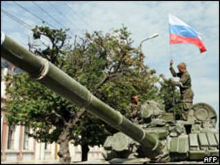 Российские солдаты в Осетии