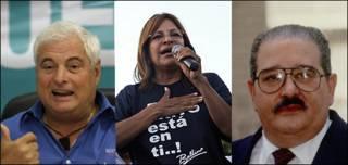 Candidatos: Ricardo Martinelli, de la derechista Alianza por el Cambio; la ex ministra socialdemócrata Balbina Herrera, del gobernante Partido Revolucionario Democrático, PRD; y el ex presidente Guillermo Endara, de Vanguardia Moral de la Patria.