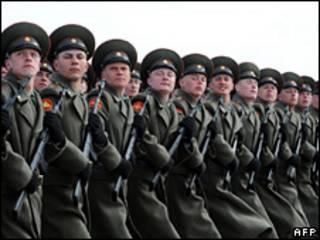 Soldados rusos. 24/04/09