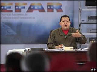Hugo Chávez, presidente de Venezuela, informa sobre el accidente