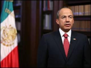 o presidente do México, Felipe Calderón