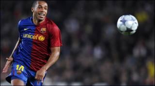 Không biết Thierry Henry của Barcelona có đủ thể lực đá  chung kết Champions League hay không?
