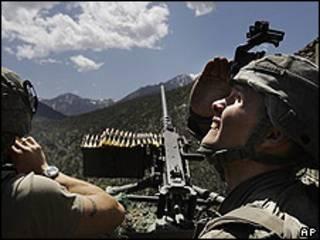 Soldado del ejército de EE.UU., en Afganistán.