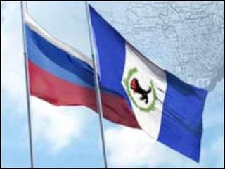 Флаги России и Иркутского региона