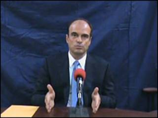 Fotograma del video póstumo del abogado Rodrigo Rosenberg.