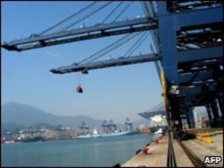 Puerto de Shenzhen, en el sur de China