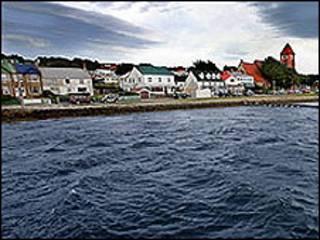 Porto nas ilhas Malvinas