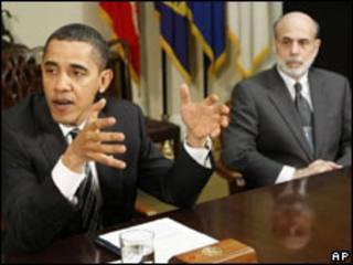Obama con Bernanke