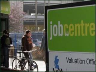 Cartaz de um centro de encaminhamento para empregos britânico