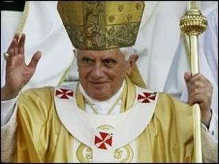 پاپ پس از مراسم عشای ربانی در بیت المقدس