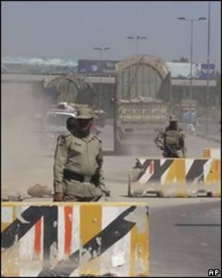 Funcionarios de seguridad en la frontera de Pakistán y Afganistán
