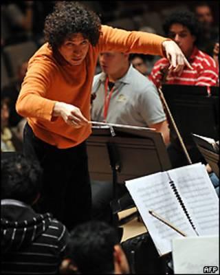 Conductor venezolano Gustavo Dudamel