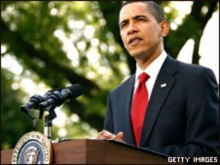 O presidente dos Estados Unidos, Barack Obama, durante pronunciamento na Casa Branca nesta quarta-feira (Getty Images)