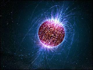 Representação artística de uma estrela de nêutrons/Foto: Casey Reed, cortesia da Penn State University, USA