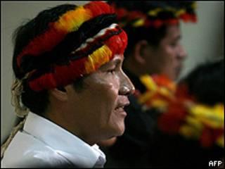 Alberto Pizango, dirigente indígena, presidente de AIDESEP